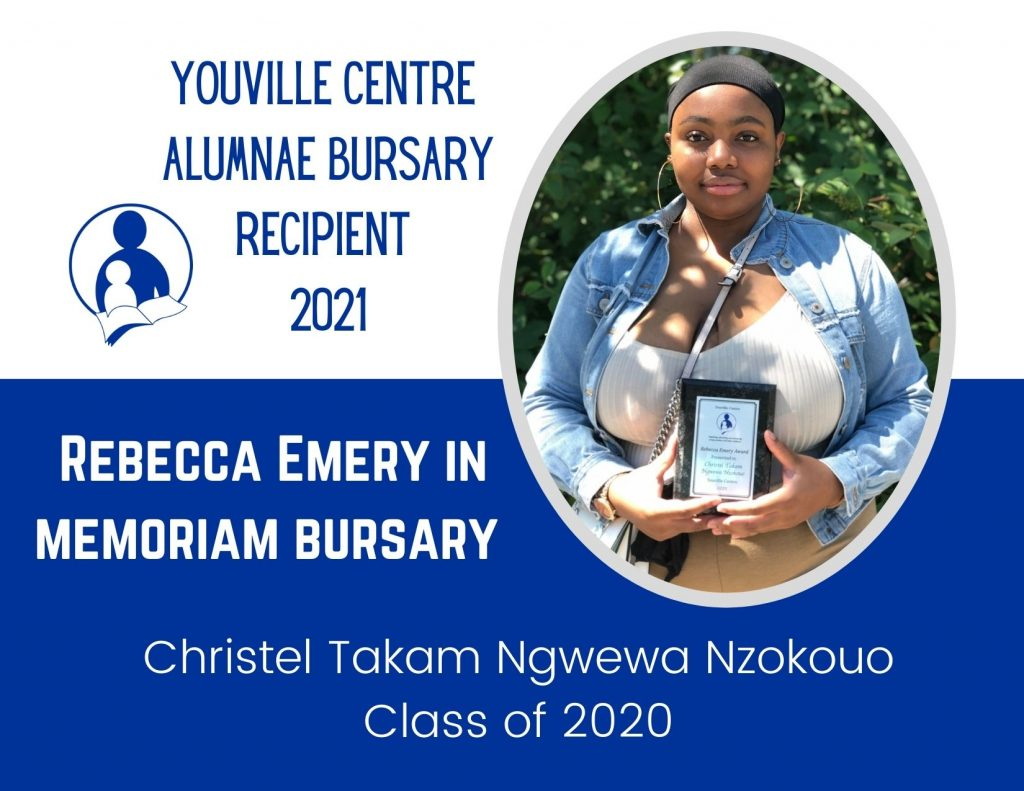 Young mother pictured with bursary award