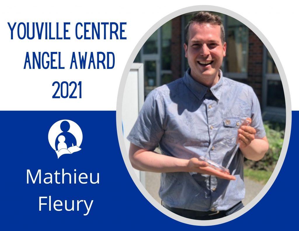 Photo graphic of 2021 Angel Award recipient Mathieu Fleury