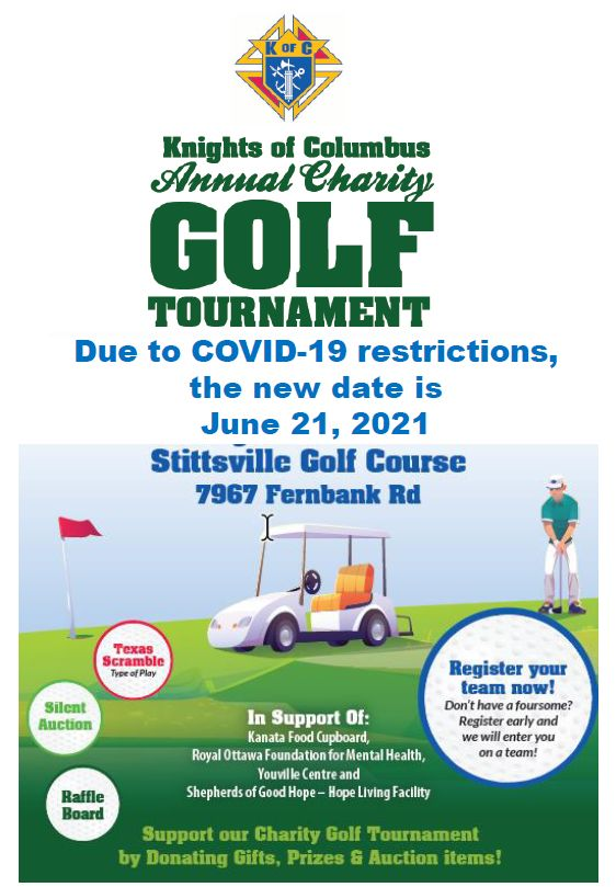 Event Poster for Knights of Columbus Charity Golf